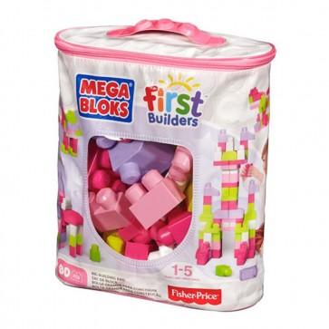 Juego de bloques Mega Bloks surtido de 80 pcs Rosa - Fisher Price 8