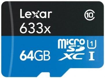 Tarjeta Micro SD 64gb  Lexar con Pendrive 95 MB/s