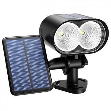 Luz LED Solar + 2 Paneles Solares Mpow  7