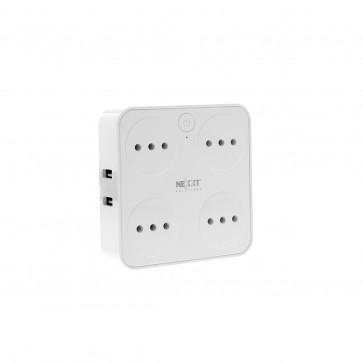 Enchufe Inteligente con Wifi Cuadruple con USB Nexxt
