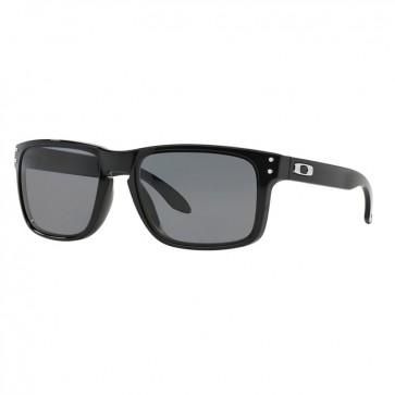 Lentes de Sol Oakley Holbrook Polished Black Grey Polarized 1