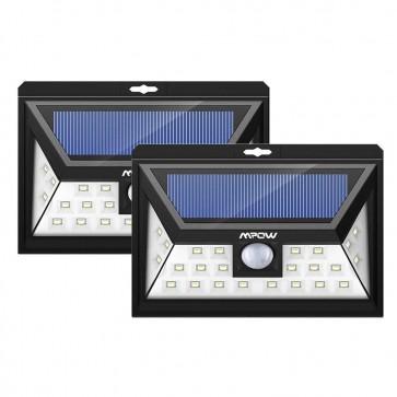 Luz Solar de 24 LED Deteccion de Movmiento Mpow