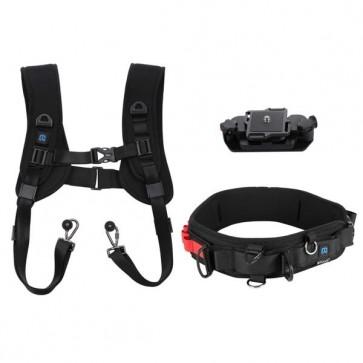 Pack 3 en 1 PULUZ Correa de cintura + Doble hombro Correa + Clip de Liberacion Rapida cámaras SLR / DSLR