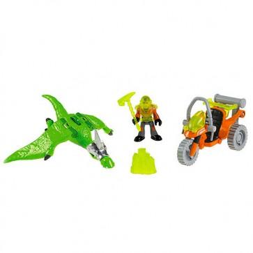Dinosaurio de Juguete Pterodáctilo + Moto 1