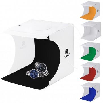 Caja de Luz Plegable con 2 Paneles LED y 5 Fondos Puluz