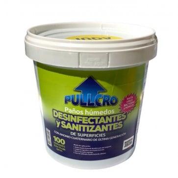 Balde de Paños desinfectantes de superficie 100 unidades Pullcro