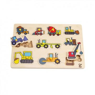 Puzzle Vehiculos de Construccion Hape 3