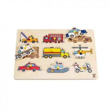 Puzzle Vehiculos de Emergencia Hape 3