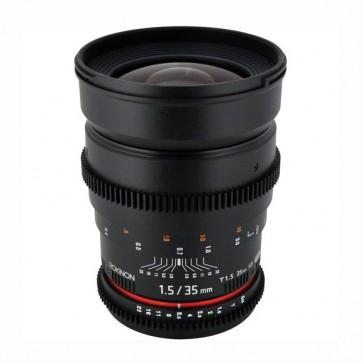 Rokinon 35mm T1.5 Cine Gran Angular Lente para Canon EF Mount