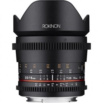 Lente ojo de pez Rokinon 12mm T3.1 ED AS IF NCS UMC Cine DS para Sony E-Mount