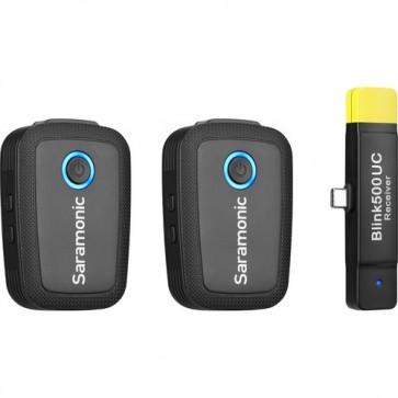 Saramonic Blink 500 B6 Sistema de micrófono Omnidireccional Inalámbrico Digital para 2 personas para dispositivos USB tipo C
