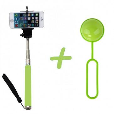 Báston Selfie Disparador Bluetooth Shutter Ball Fiddler verde