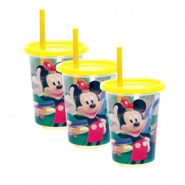 Set de 3 Vasos con Bombilla Mickey Mouse - The First Year
