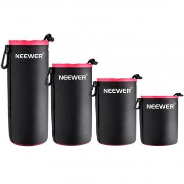 Set de 4 Protectores de Lentes Fotograficos de Neopreno - Neewer
