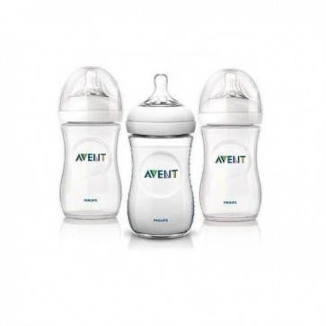 Set de 3 Mamaderas Natural 260 ml Avent  1