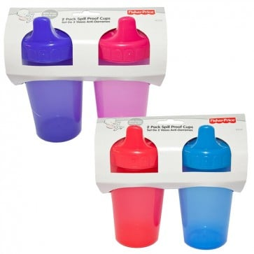 Set de 2 Vasos para bebé Anti-derrame Fisher Price