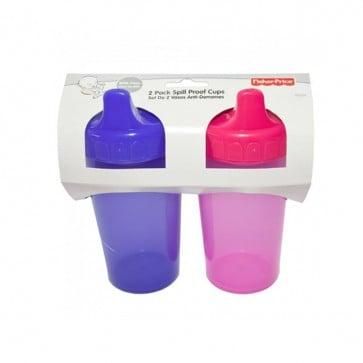 Set de 2 Vasos Anti-derrame -Rosado-Morado- Fisher Price