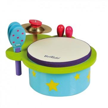 Set mini Tambor bebé - un juguete musical de Boikido 1