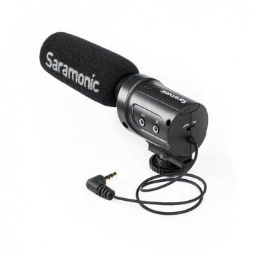 Microfono para Camara Saramonic SR-M3 con Salida de Audifonos para Monitoreo 1