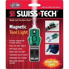 Linterna adherible a herramienta magneto y clip SwissTech 1