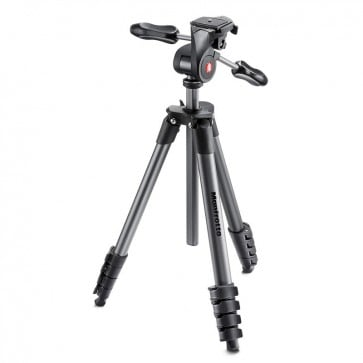 Tripode Manfrotto Compact Advanced con rótula 3 Way negro 5