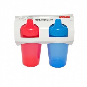Set de 2 Vasos Anti-derrame -Rojo-Azul- Fisher Price