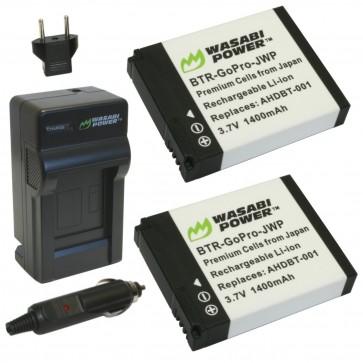 Set Cargador + 2 Baterias GoPro Wasabi Power Hero - Hero 2