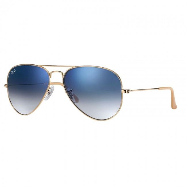 Boutique en ligne 3eddc 90d81 Anteojos Ray-Ban Aviator Gradient Gold con Cristal Azul