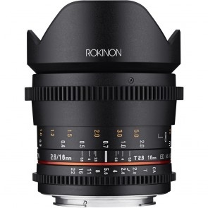Lente Cine DS de fotograma completo Rokinon 16 mm T2.6 (montura Canon EF)