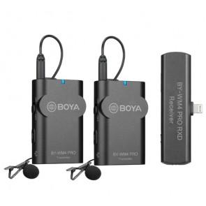 Sistema de micrófono inalámbrico de 2,4 GHz para dispositivos iOS BY-WM4 Pro-K4