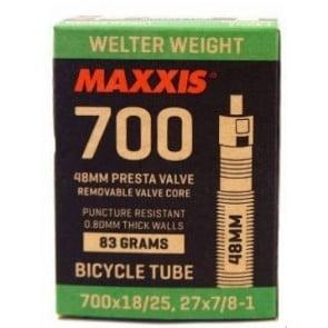 Camara Maxxis 700x18/25, 27x7/8-1 Presta