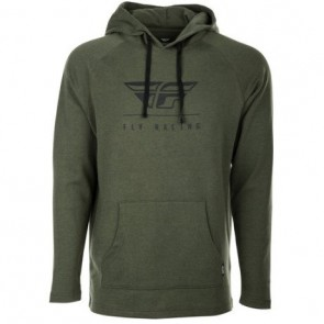 Poleron Fly Racer Crest Hoodie Military Green
