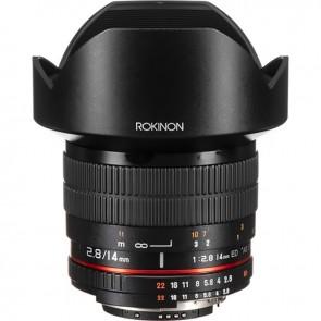 Lente Rokinon 14mm f / 2.8 IF ED UMC para Nikon con Chip AE