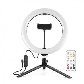 Aro de Luz de 26cm + Tripode Puluz USB