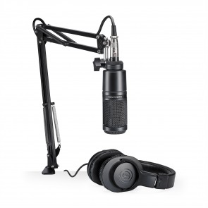 Microfono de Estudio Audio-Technica AT2020 con Cable ATH-M20x Boom y XLR