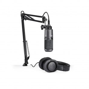 Microfono Audio-Technica AT2020USB + Audifono ATH-M20x / Brazo y Cable USB