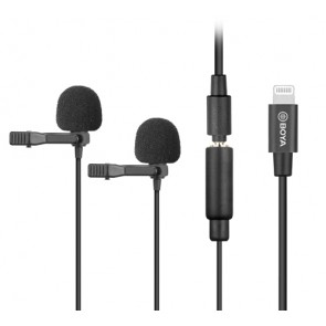 Microfono Lavalier Dual para iOS Boya BY-M2D