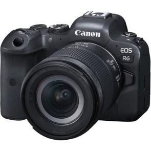 Camara Canon EOS R6 con lente de 24-105 mm f / 4-7.1 IS STM