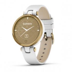 Smartwatch Garmin Lily Correa de Cuero LightGold White