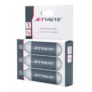 Cilindros de CO2 de 25 g Jetvalve Weldtite (x3)