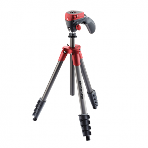 Tripode Manfrotto Compact Action Rojo
