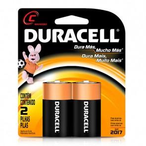 Pack de 2 pilas Medianas C - Duracell