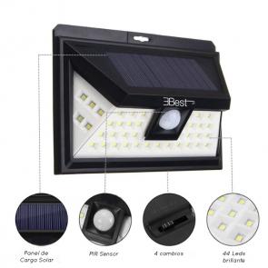 Foco Solar de 44 LEDs Ebest con Sensor de Movimiento