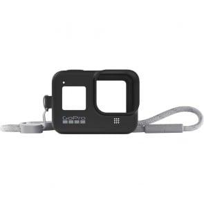 Funda de silicona GoPro con Cordón ajustable para GoPro HERO 8 Negro