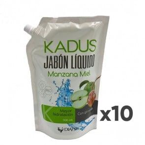 Pack de Jabon Liquido 10 un Manzana Miel 900ml Kadus