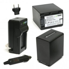 Kit de Bateria y Cargador para Sony NP-FV100