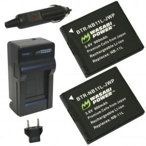 Cargador de Bateria NB-11L + 2 Baterias NB-11L (NB-11LH) Wasabi Power