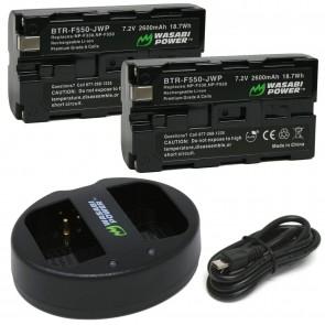 Kit de 2 Bateria para Sony NP-F330 NP-F530 NP-F550 NP-F570 CN-160 CN-216 CN126 Wasabi