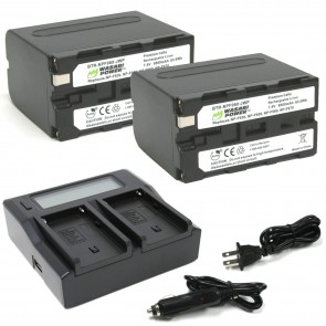 Kit de 2 Bateria Wasabi para Sony NP-F950, NP-F960, NP-F970, NP-F975