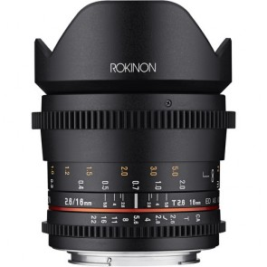 Rokinon Cine DS 16mm T2.6 Cine Lente para Canon EF-S